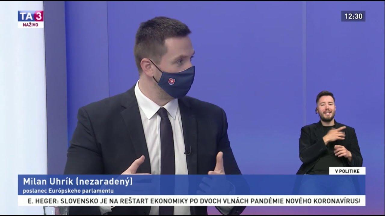 Predseda hnutia REPUBLIKA Milan Uhrík na TA3 o (ne)zvládaní pandémie COVID-19