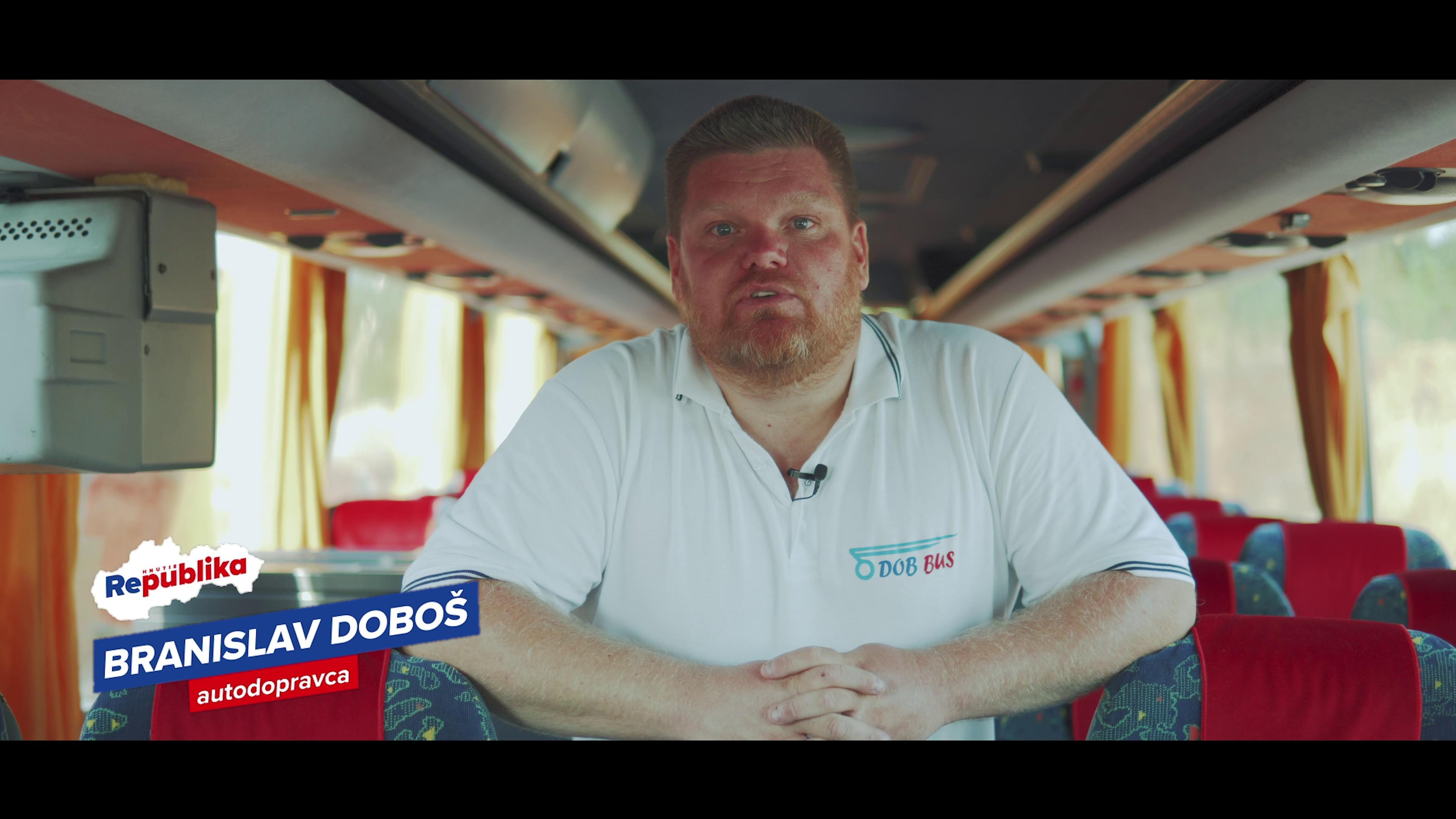 Predseda zväzu súkromných autobusových dopravcov Branislav Doboš sa pridáva k REPUBLIKE