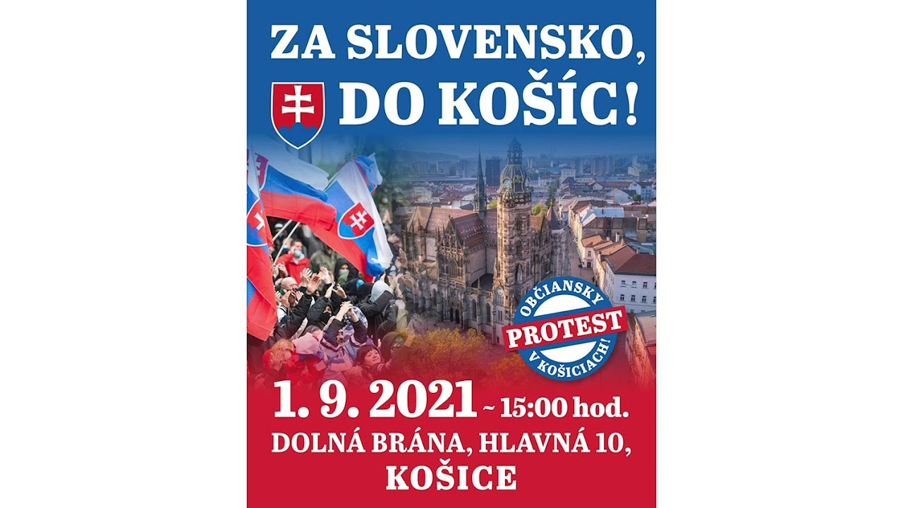 1. septembra ideme na veľký protest do Košíc