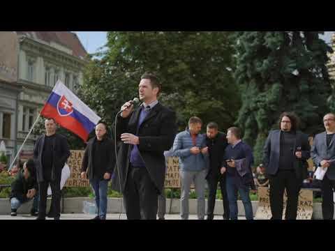 Masový protest v Košiciach 1. septembra 2021